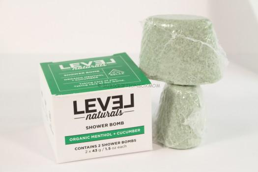 LEVEL Naturals Shower Organic Menthol + Cucumber Bombs