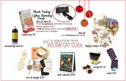 Bag & Wander Black Friday 2015 Deal