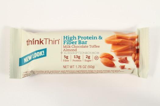 thinkThin High Protein & Fiber Bar in Milk Chocolate Toffee Almond