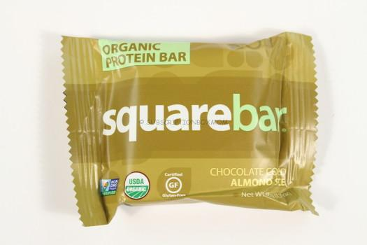 Organic Protein Bar Square Bar in Chocolate Coated Almond Spice