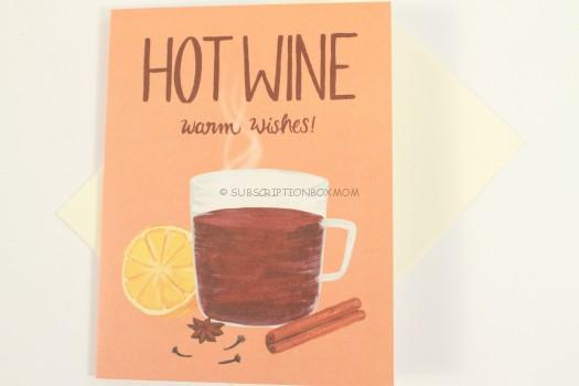 Mulled Wine Holiday Drink Recipe Card
