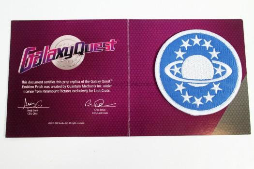 EXCLUSIVE Galaxy Quest Authentic Prop Replica Patch