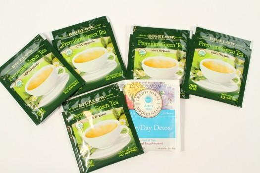 Bigelow Premium Green Tea (5 Count) and Traditional Medicinals EveryDay Detox