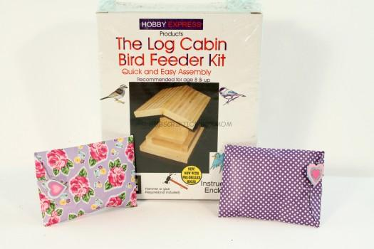 The Log Cabin Bird Feeder Kit and 2 Packs of Seeds