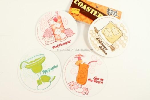 Kitsch on the Rocks Coasters