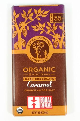 Organic Dark Chocolate Caramel Crunch with Sea Salt from Equal Exchange