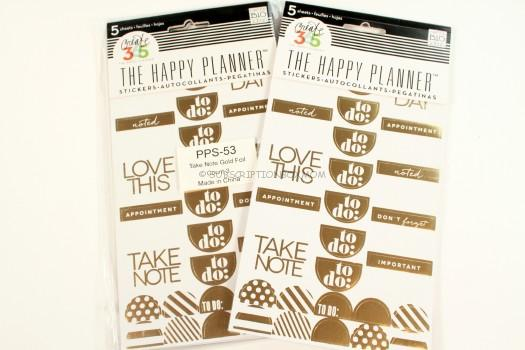 "me & my BIG ideas PPS-53 5-Sheets Create 365 The Happy Planner Gold Foil ""To Do"" Stickers"