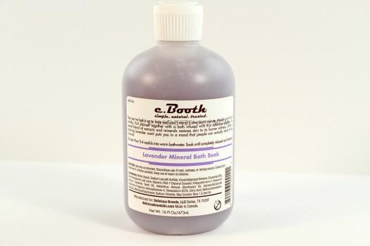 C Booth Lavender Mineral Bath Soak