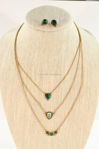 Emerald Necklace & Earring Set
