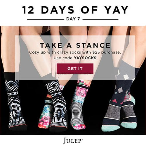 Julep 12 Days of Yay: Free Socks