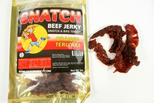 SNATCH Jerky Orange Teriyaki