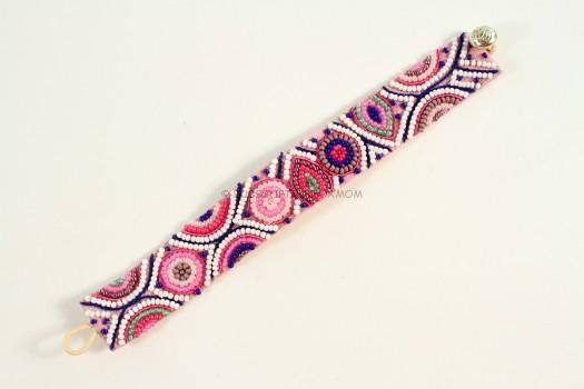 Patterned Beaded Bracelet