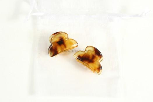 Tortoise Shell Mini Hair Clips