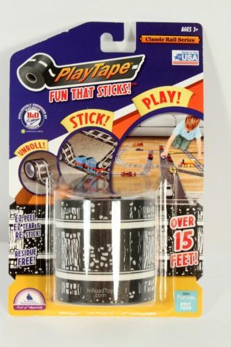 Inroad Toys Classic Rail Series Brick Trolley/Railroad Track Play Tape, 60 x 2'