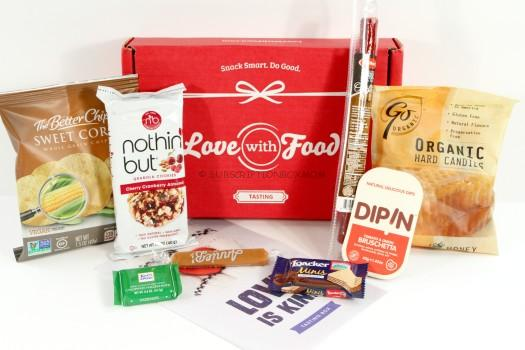 Love with Food January 2016 Tasting Box Review