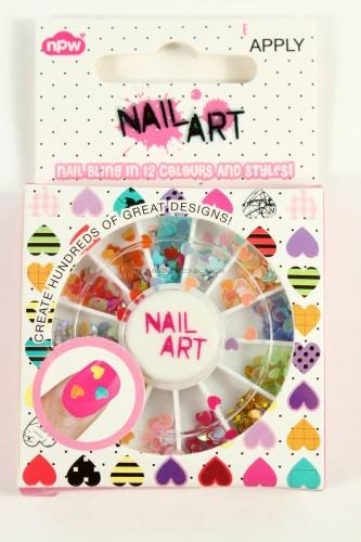 Heart Nail Gem Wheel