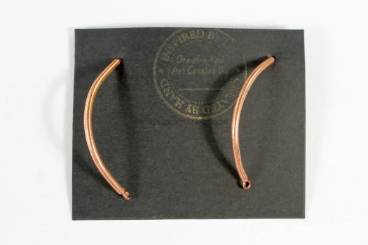 Jasmine Arched Dangle Copper Earrings