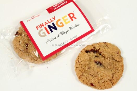 Oatmeal Cranberry Finally Ginger Cookie