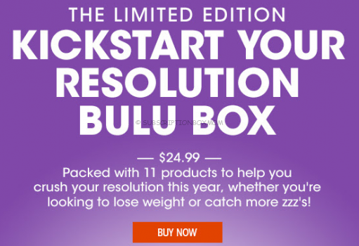 Bulu Box Limited Edition Kickstart Your Resolution Box