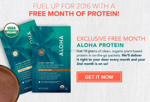 Free Month of ALOHA Protein