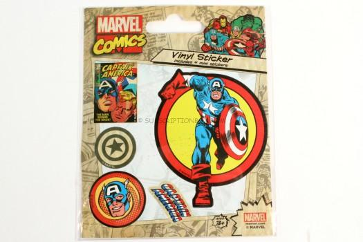 Marvel Comics Vinyl Sticker - Captain America
