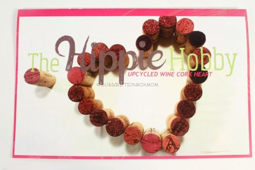 Upcycled Whine Cork Heart