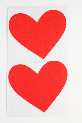Glitter Hearts: