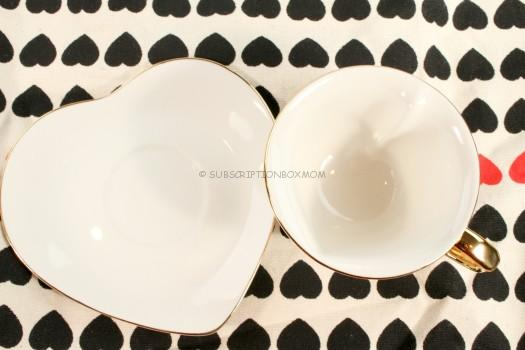 Porcelain Inside Out Heart Tea Cup and Saucer - LLB