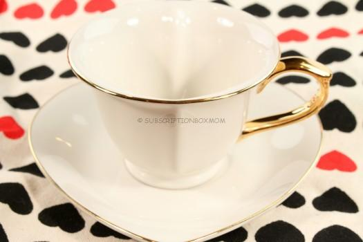 Porcelain Inside Out Heart Tea Cup and Saucer