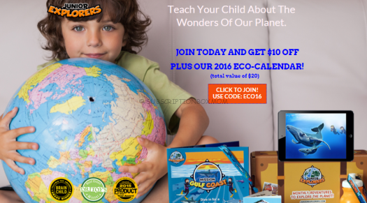 Junior Explorers $10.00 Coupon Code + Free Calender