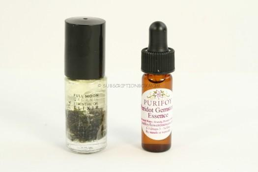 Essential Oil and Peridot Gemstone Essence