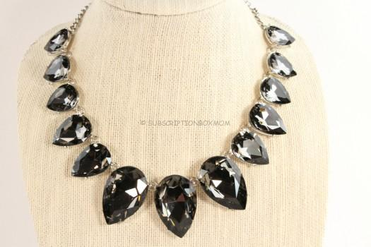 Urban Gem Crystal Bib Necklace in Silver