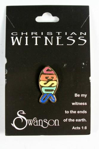 Christian Witness Jesus Fish Pin