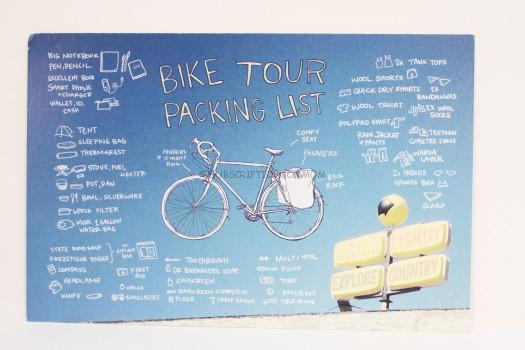 bike tour packing list