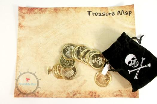 Treasure Map and Coins