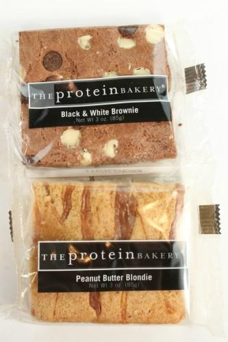 The Protein Bakery Peanut Butter Blondie and Black and White Brownie