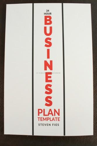 24 Hour Business Plan Template by Steven Files