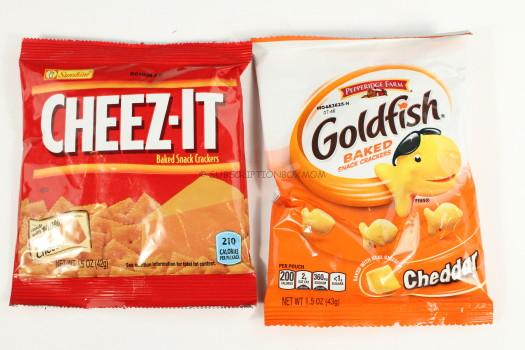 Cheese-It and Goldfish