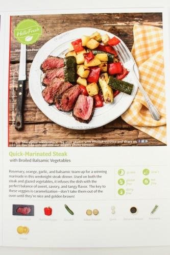 Quick-Marinated Steak with Broiled Balsamic Vegetables