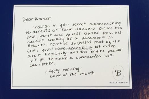 Book of the Month letter