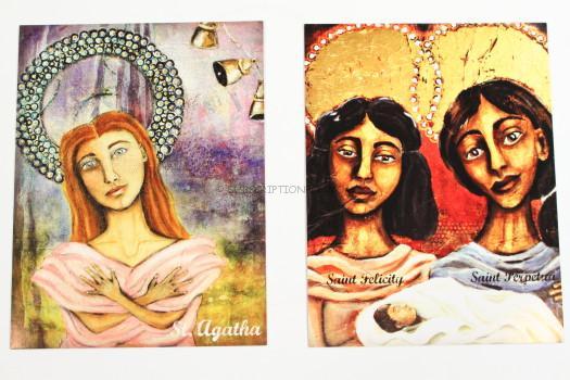 St. Perpetua/ St. Felicity & St. Agatha prayer cards