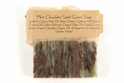 Mint Chocolate Swirl Guest Soap
