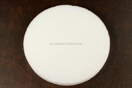 8 inch Styrofoam disc.