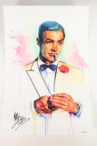 James Bond Print by Matt Brooks