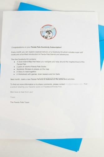 Panda Pals Letter