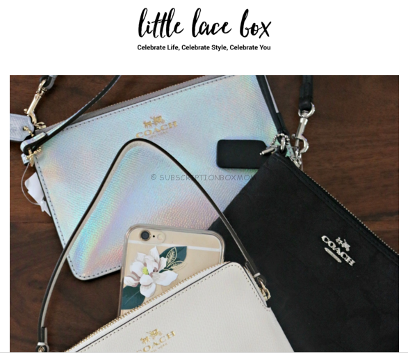 Little Lace Box Free Coach Clutch + $20 Coupon