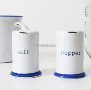 canvas home Tinware Inspired Salt & Pepper Shaker