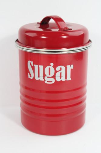 Storage Canister in Vintage Kitchen Red