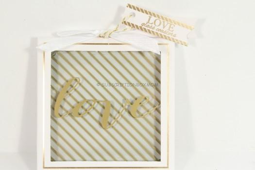 Kate Aspen Gold Love Glass Coasters