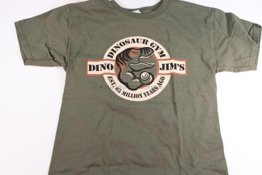 """Dino Jim's"" Dinosaur Gym T-Shirt"